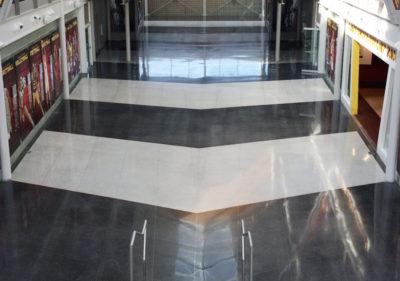 dyed restored terrazzo floor