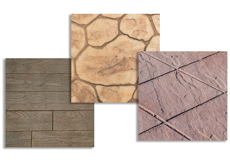 decorative concrete floor stamps