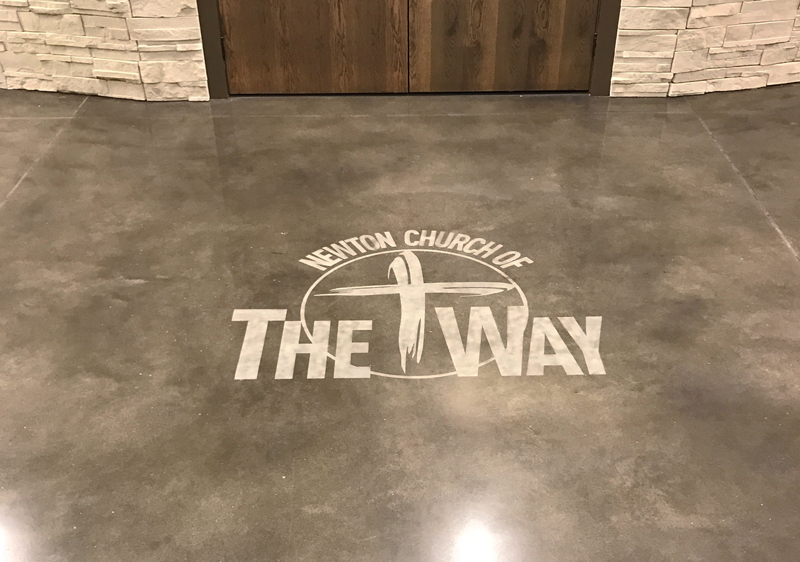 engraved decorative concrete
