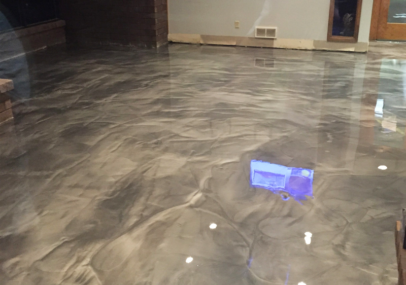 marbled epoxy floor coating