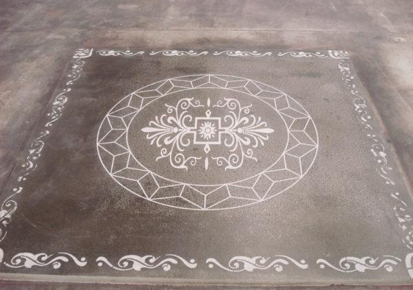 engraved decorative concrete floor
