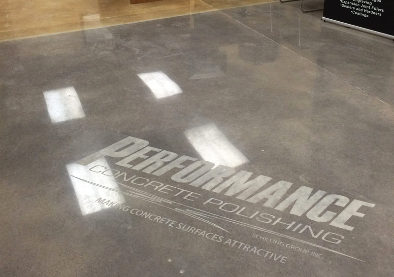 Logo in Polished Concrete Floor