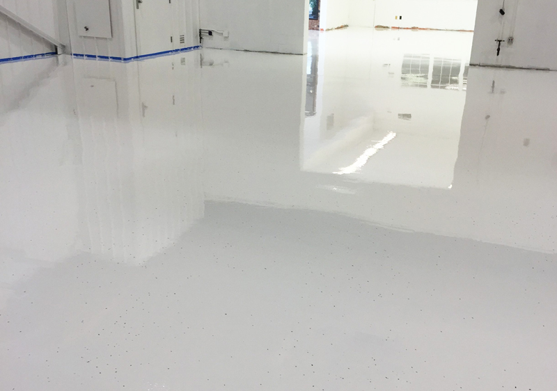 light gray epoxy floor coating