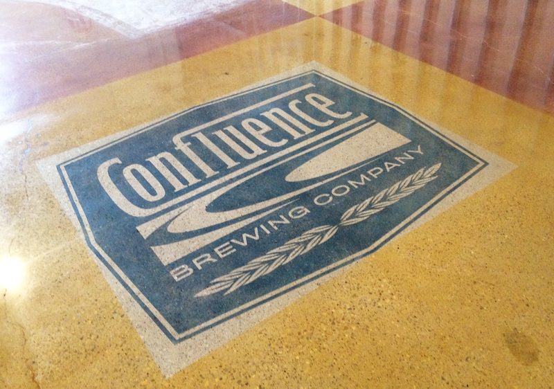 decorative concrete with logo incorporation