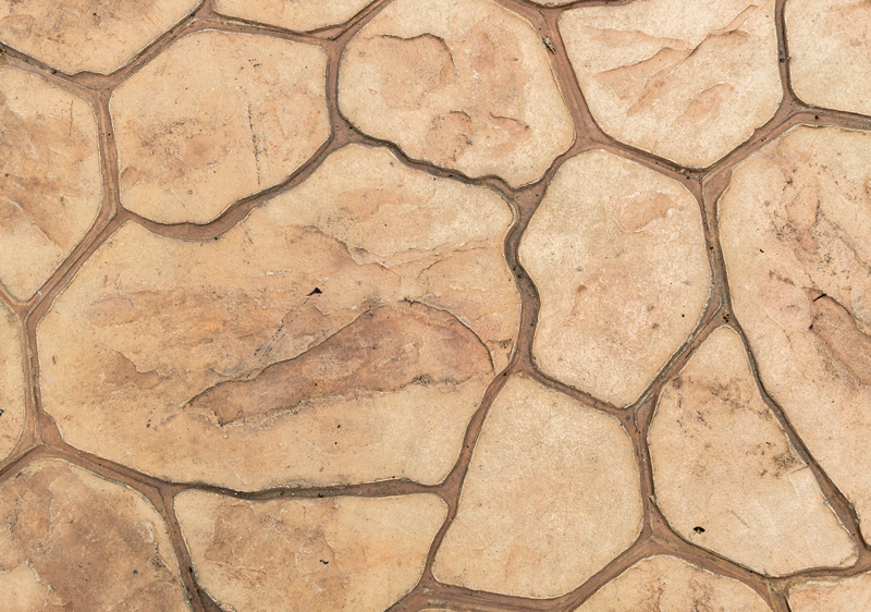 stone stamped decorative concrete