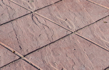 stone tile stamped concrete