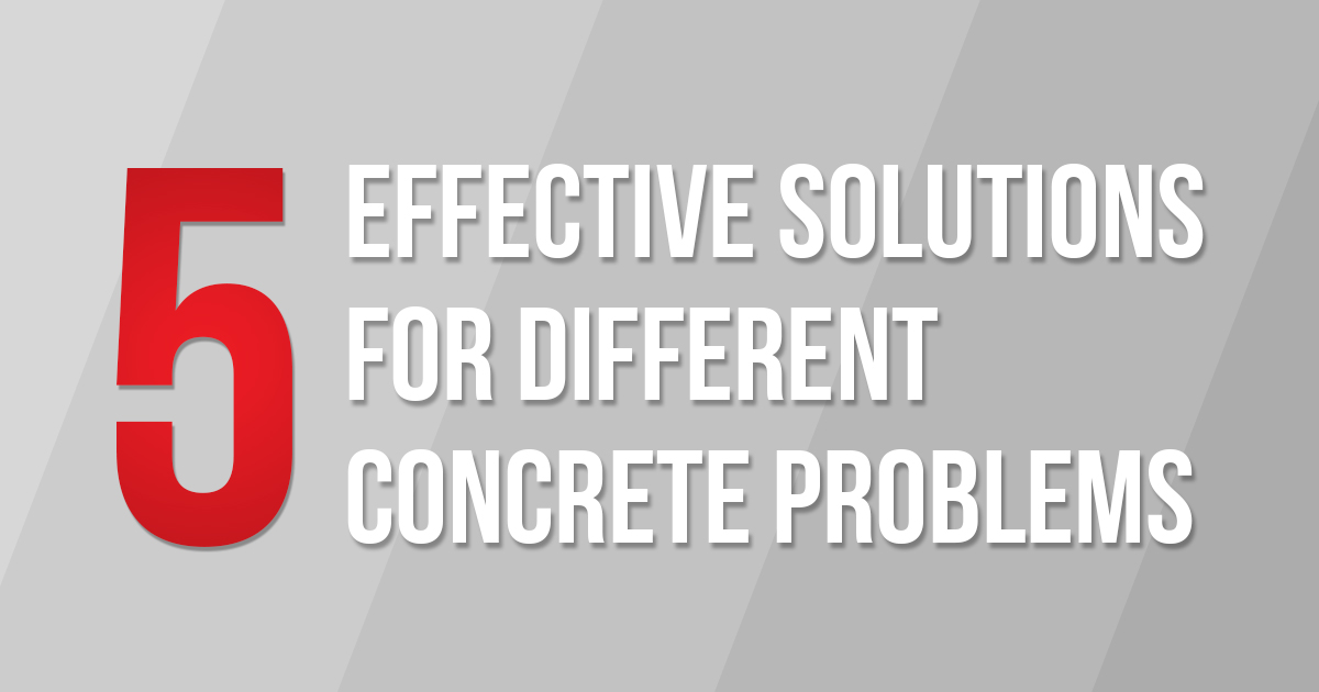 5 Different Concrete Coating or Polishing Solutions for Different Concrete Problems.