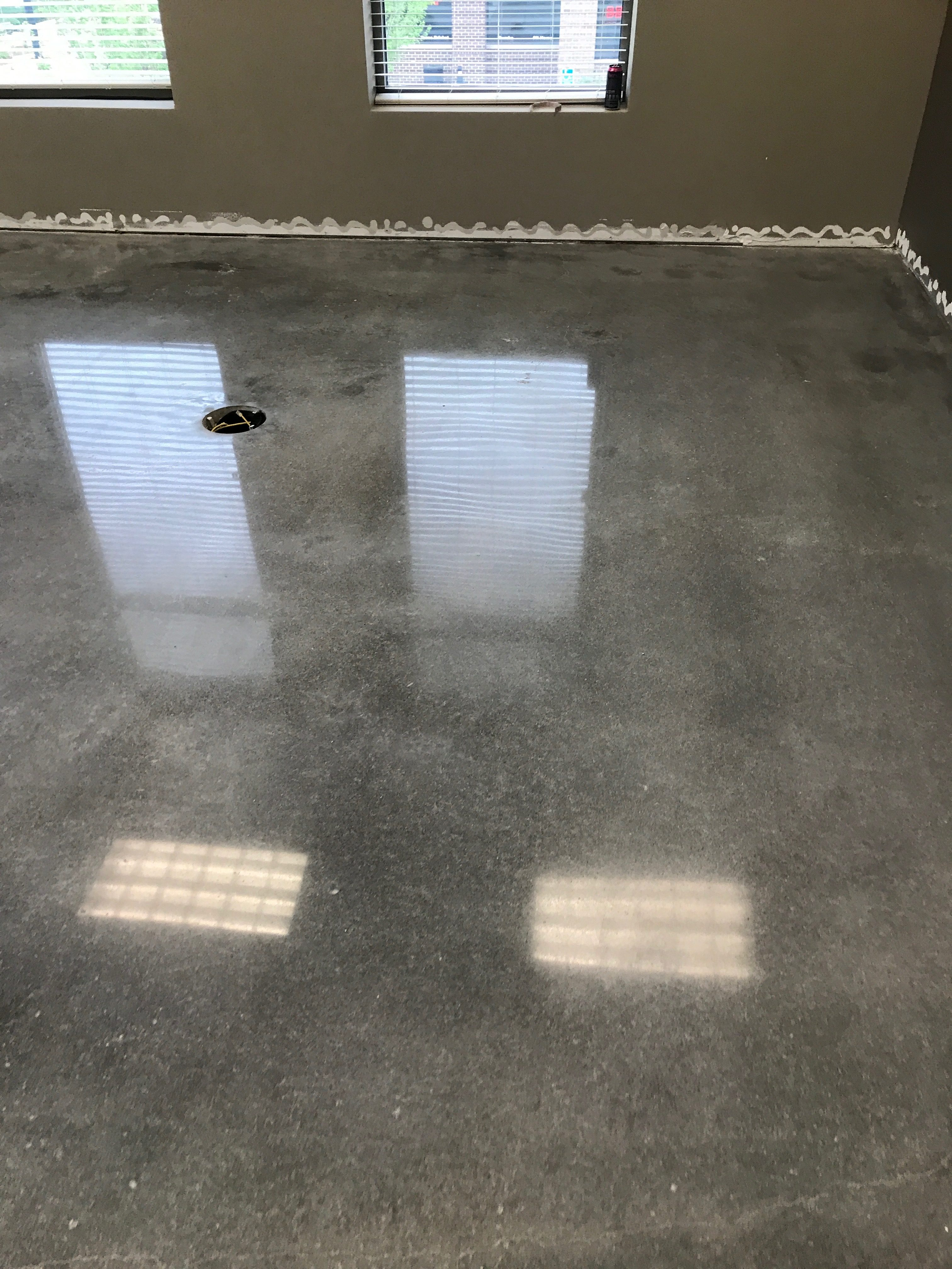 Concrete Floor With Grey Dye