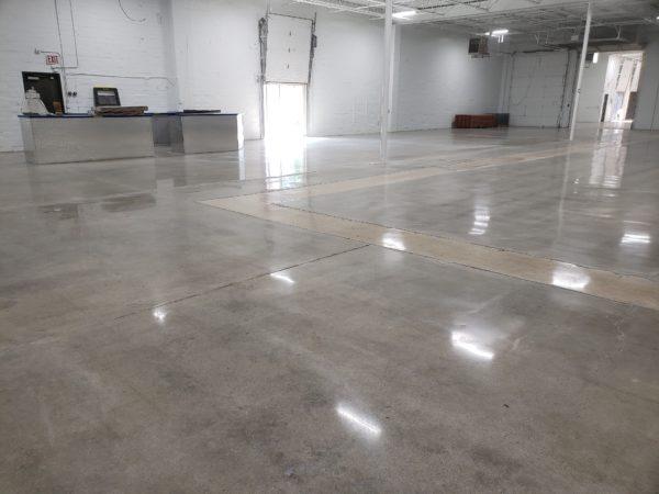 Concrete Floor With No Dye