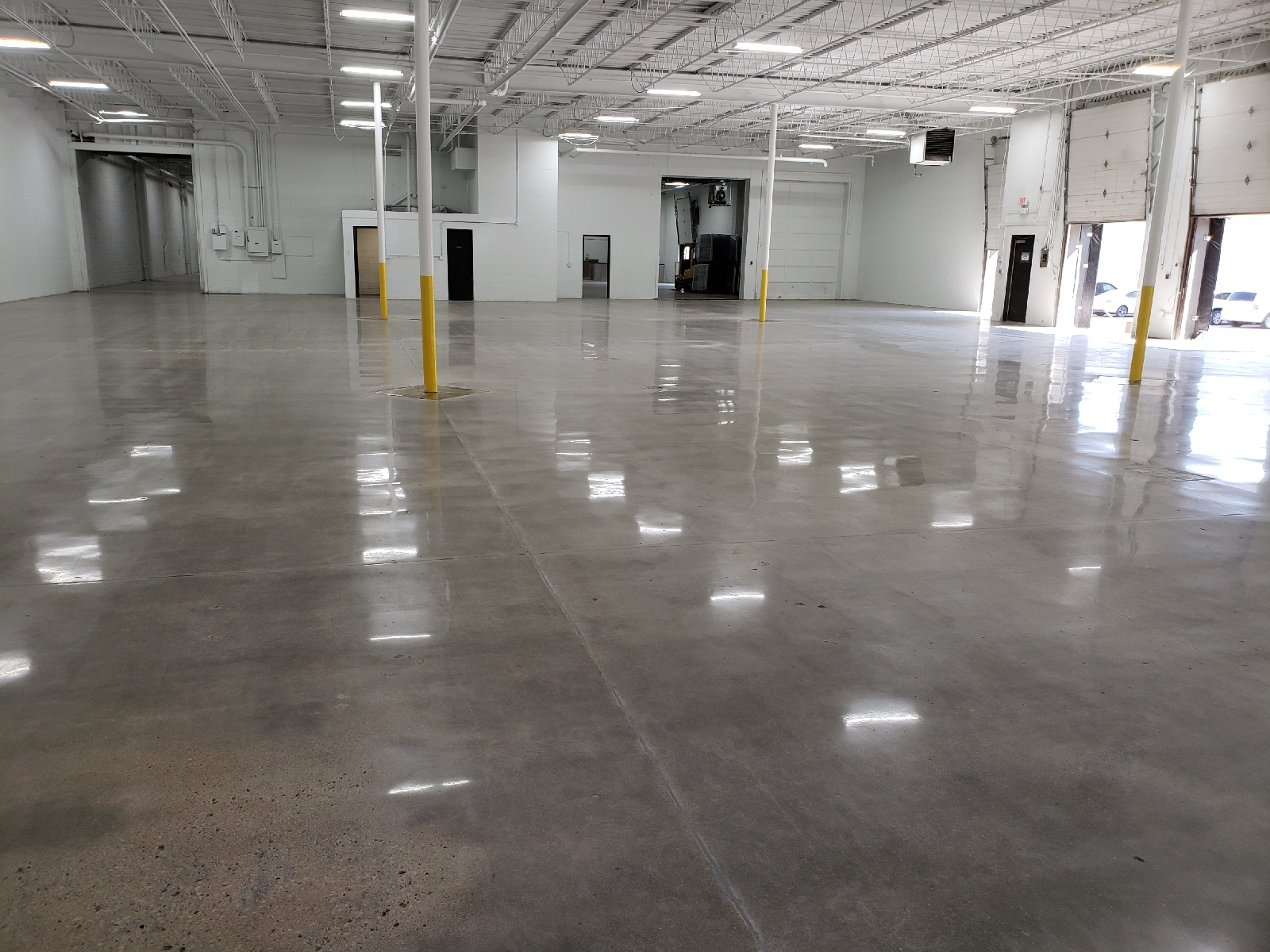 Mechanically Polished Concrete Floor With No Dye
