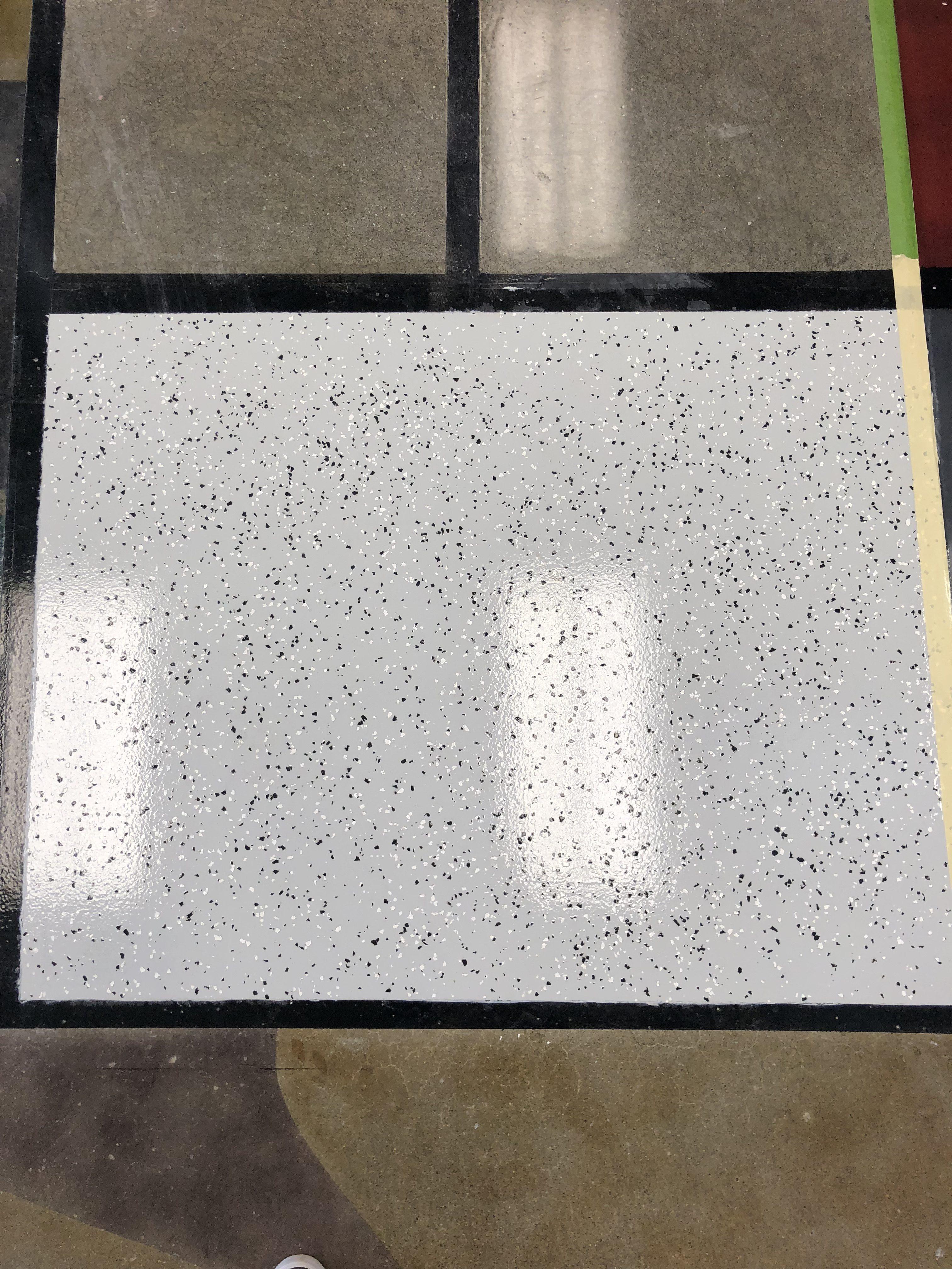 Hybrid Polyurethane Concrete Coating With Light Flakes