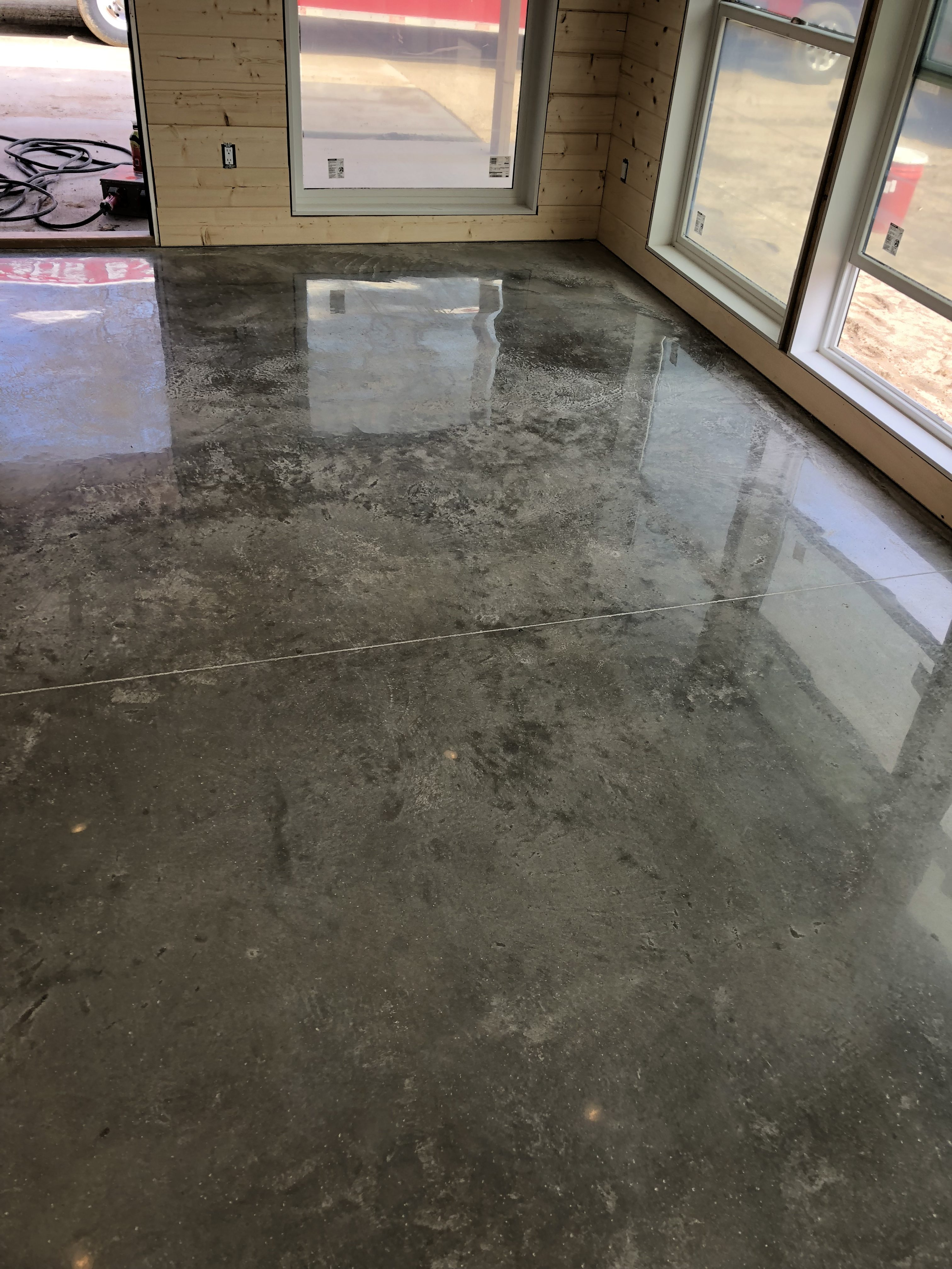 Commercial-Distressed Polished Concrete - Performance