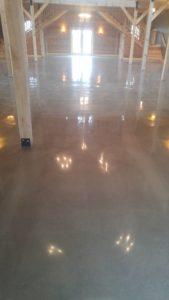 Mechanically Polished New Concrete Floor