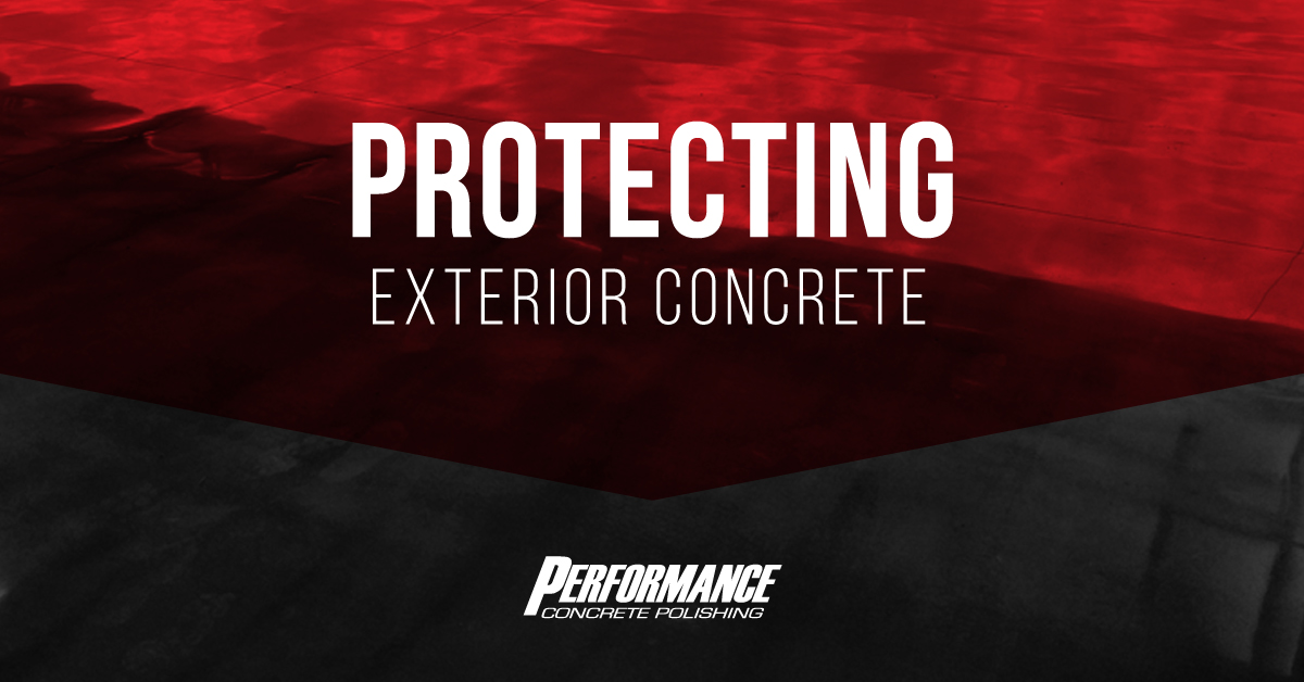 Protecting Exterior Concrete Graphic
